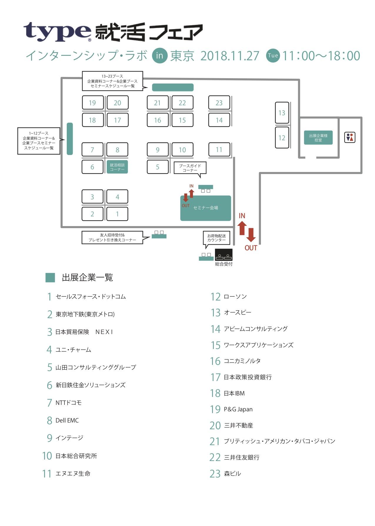 インターンシップ・ラボ会場MAP