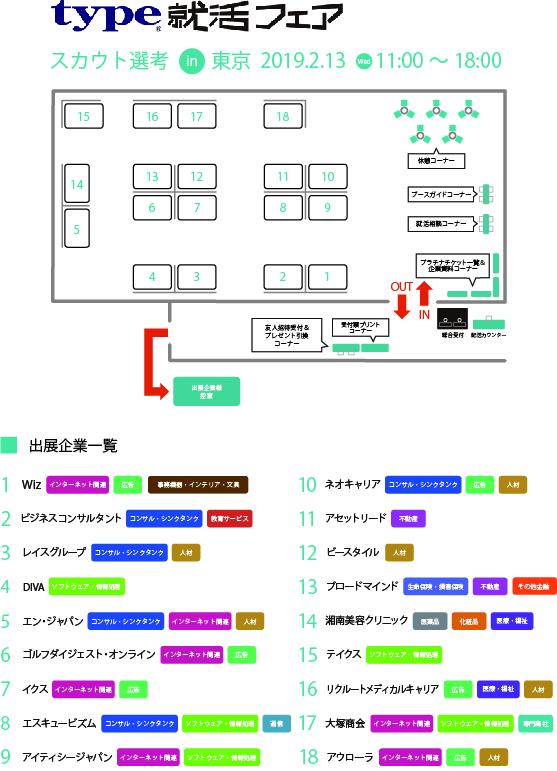スカウト選考 in東京 会場MAP