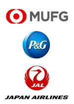 株式会社三菱UFJ銀行、プロクター・アンド・ギャンブル・ジャパン株式会社、日本航空株式会社